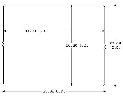 28.75X35.50 Uni Pak Sleeve OD ID v2 36 x 29 Sleeve Pack